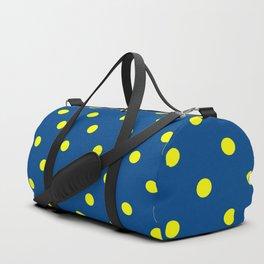 Maize & Blue Polka Dots Duffle Bag