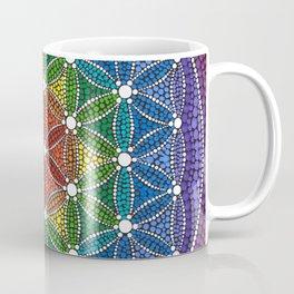 Rainbow Happy Flower of Life Coffee Mug