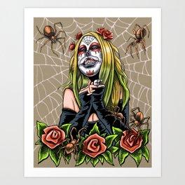 Spider Sugar Skull Art Print