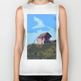 A Beautiful house on the hill Biker Tank