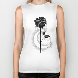 Black rose drips Biker Tank