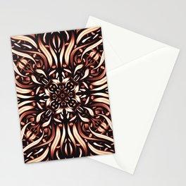 Intense Burning Passion Mandala Flower - Fire Spirit Stationery Cards