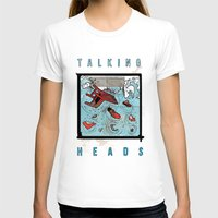 talking heads T-shirts featuring Talking Heads Limited Edition Music Poster Print by Nick Howland
