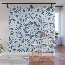 Snowflake Denim & White Wall Mural