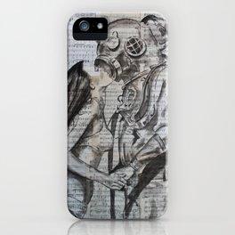 Deep Dive Kiss iPhone Case