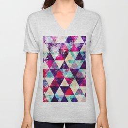 "Retro Geometrical Abstract Design ""Josephine"" inspired Unisex V-Neck"