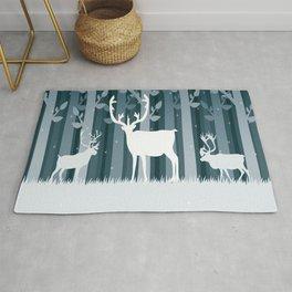 Snow Caribou Rug
