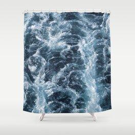 Sea Blue Wake - Pacific Ocean Shower Curtain