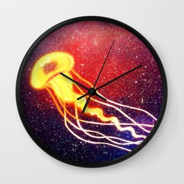 Space JellyFish Wall Clock