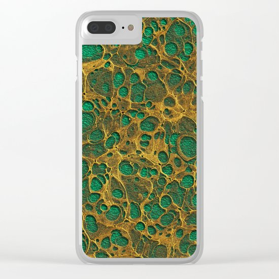 Golden Marble 04 Clear iPhone Case
