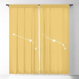 Aries Zodiac Constellation - Golden Yellow Blackout Curtain