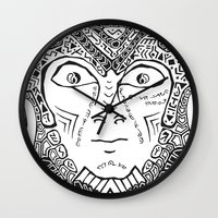 warrior Wall Clocks featuring Warrior by Ommou