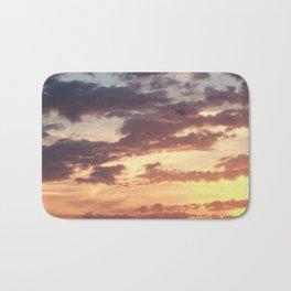Pastel Summer Sunset Bath Mat