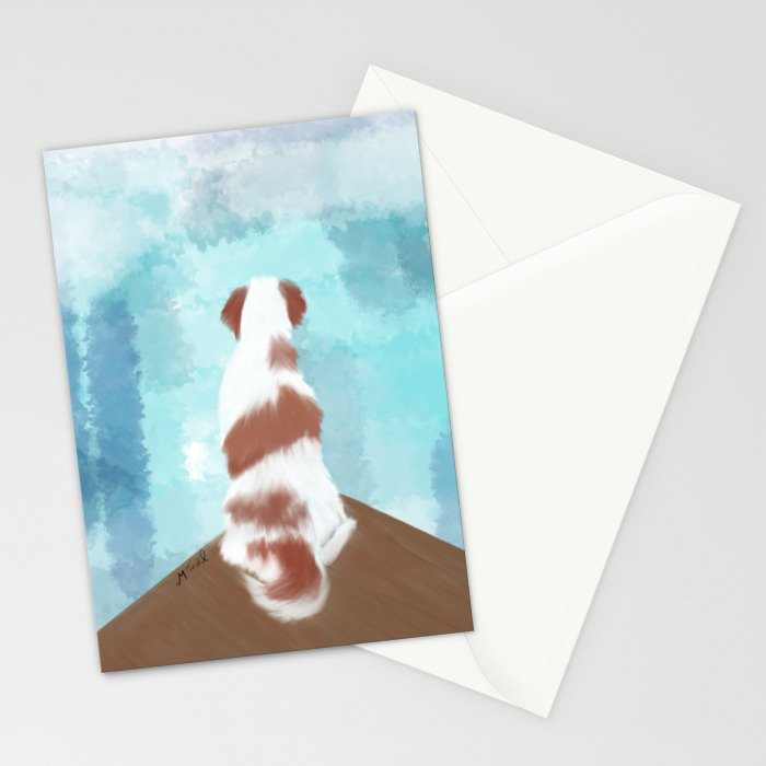 Deschutes The Brittany Spaniel Stationery Cards