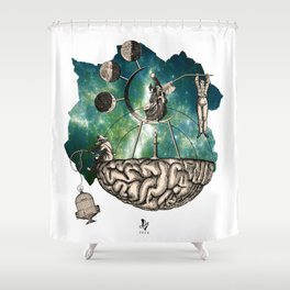 Subjective Reality Shower Curtain