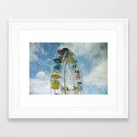 ferris wheel Framed Art Prints featuring Ferris Wheel by Mary Kilbreath