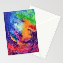 Galaxy lights, colours of Sky Stationery Cards