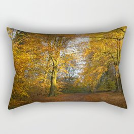 Forest Walk With Dazzling Autumn Colours Rectangular Pillow