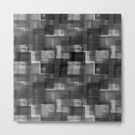 Squares Interrupted Metal Print