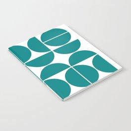 Mid Century Modern Geometric 04 Teal Notebook