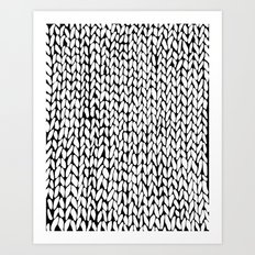 Hand Knitted Loops Art Print