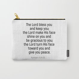 Numbers 6 24 #bibleverse #scriptures #blessing Carry-All Pouch