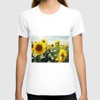 sunflowers T-shirts featuring Sunflowers by Falko Follert Art-FF77