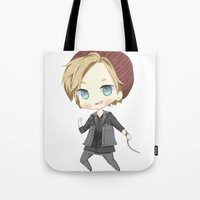 infamous Tote Bags featuring Pewdiepie Infamous: Second Son by PumpkinElite