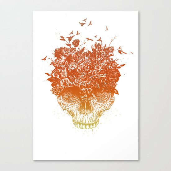 Summer skull Canvas Print