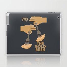 The gold rush, movie illustration, Charlie Chaplin film, vintage poster, Charlot, b&w cinema Laptop & iPad Skin
