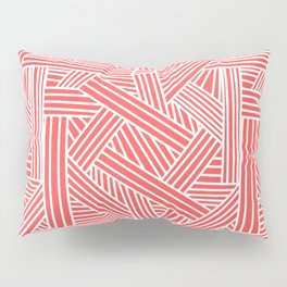 Sketchy Abstract (White & Salmon Pattern) Pillow Sham