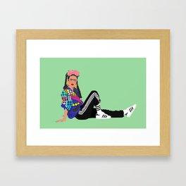 90s Frida Framed Art Print