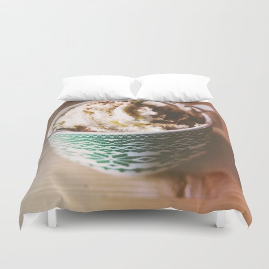 Whipped Cream Hot Chocolate Duvet Cover