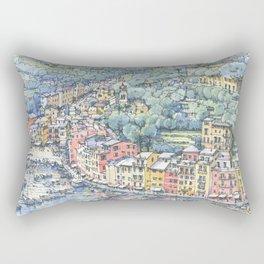 Portofino dal mare Rectangular Pillow