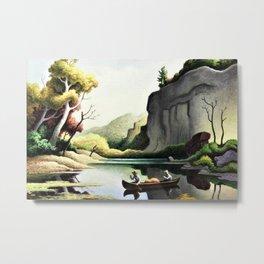 Classical Masterpiece 'Ozark Reflections' by Thomas Hart Benton Metal Print