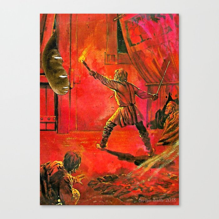 The Interloper handcut collage Canvas Print