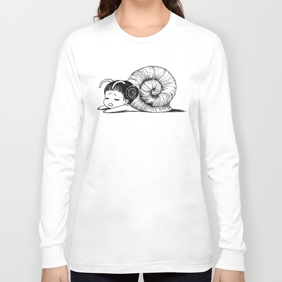 Snail girl Long Sleeve T-shirt