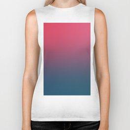 BLOOD NIGHT - Minimal Plain Soft Mood Color Blend Prints Biker Tank