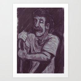Dan Smith in charcoal Art Print