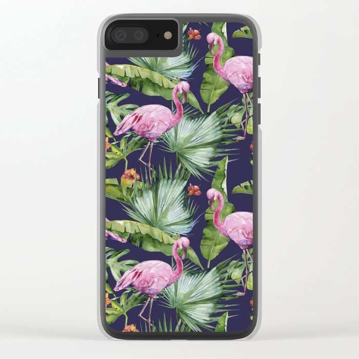 Tropical Summer #society6 Clear iPhone Case