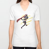 kill la kill V-neck T-shirts featuring Kill la Kill: Ryuko Matoi by meganbarker