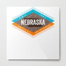 Vintage Mid Century Modern Nebraska Metal Print