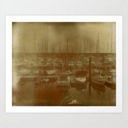 Brighton Marina Art Print