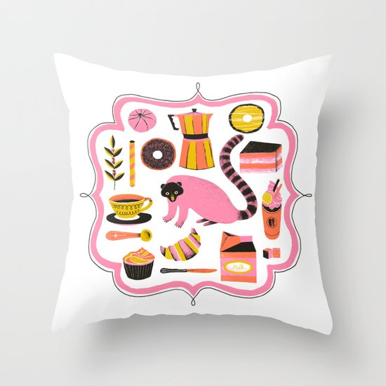 Super Coffee lovers set Throw Pillow