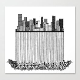 City with roots Canvas Print