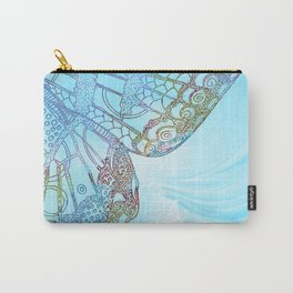 Colorful Abstract Butterfly Design Carry-All Pouch