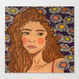 comin' up daisies Canvas Print