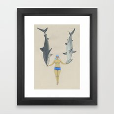 The Shark Charmer Framed Art Print