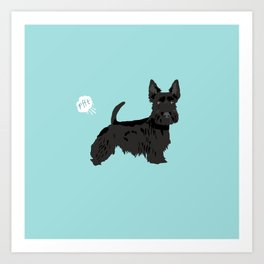 scottish terrier scotties funny farting dog breed pure breed pet gifts Art Print
