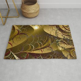 Intertwined abstract vegetation  Rug